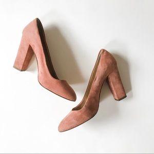 J. Crew Etta Suede Leather Block Heel Pump Size 7